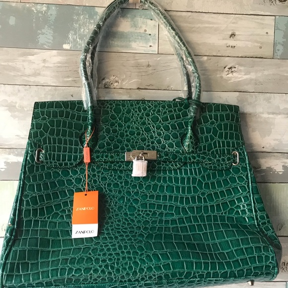 Ladies Women Green HandBag Pocketbook Tote Purse 94974e2587998